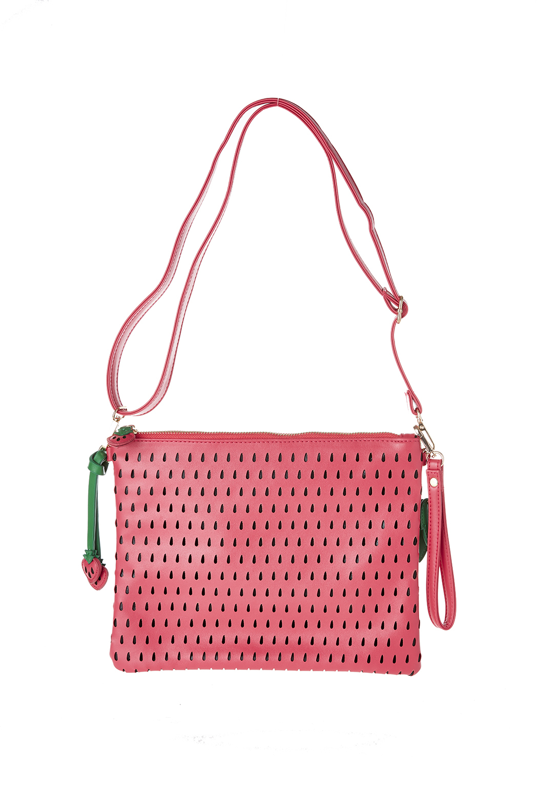 Anzell Strawberry Clutch - Front Full Image