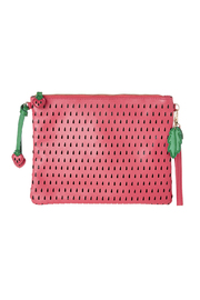 Anzell Strawberry Clutch - Front cropped