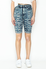 Aphrodite High Waist Distressed Shorts - Front full body