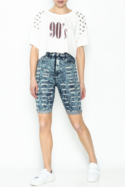 Aphrodite High Waist Distressed Shorts - Side cropped