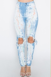 Aphrodite Paint Splash Jeans - Product Mini Image