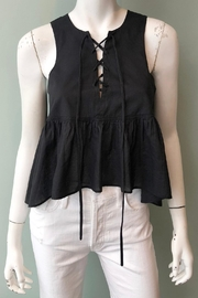 Apiece Apart Jasmine Lace-Up Tank - Front cropped