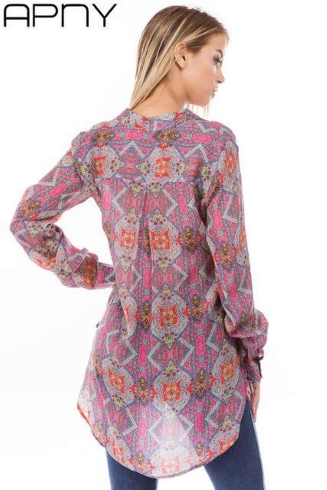 APNY Apparel Printed Tunic - Front Full Image