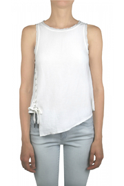 Tractr Blu Apolla Lace up Cotton Tank - Product Mini Image