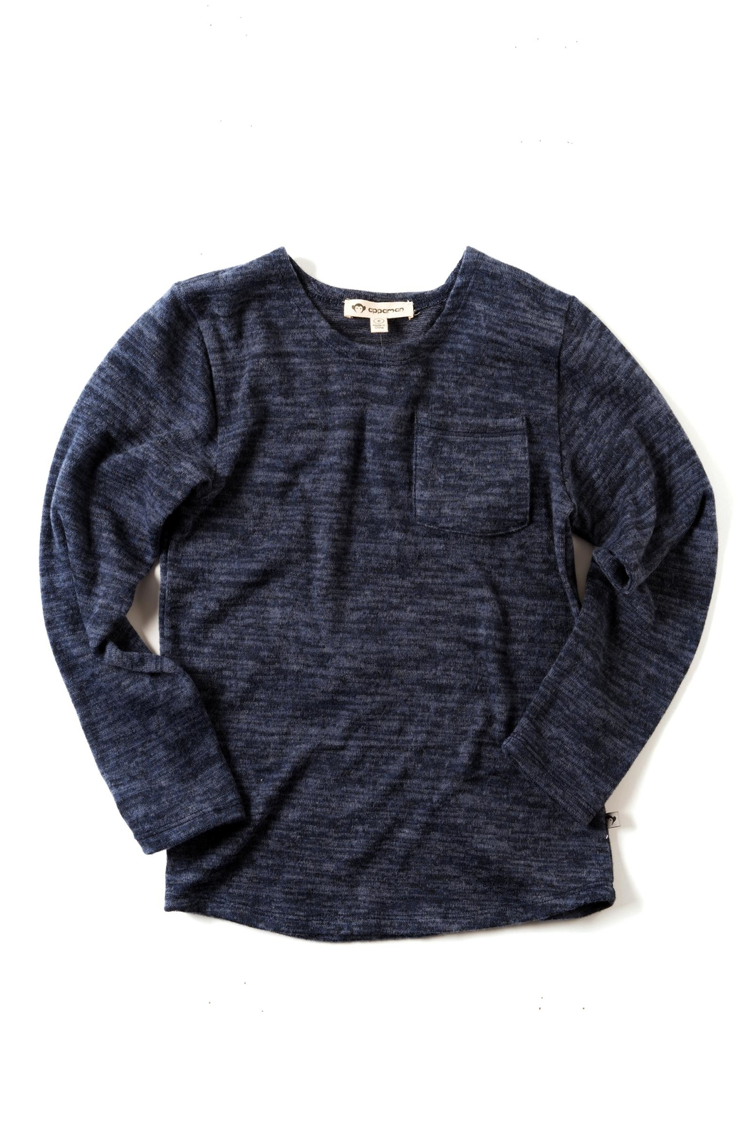 Appaman Blue Lightweight Sweater - Front Cropped Image