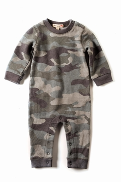 Shoptiques Product: Grey Camouflage Romper