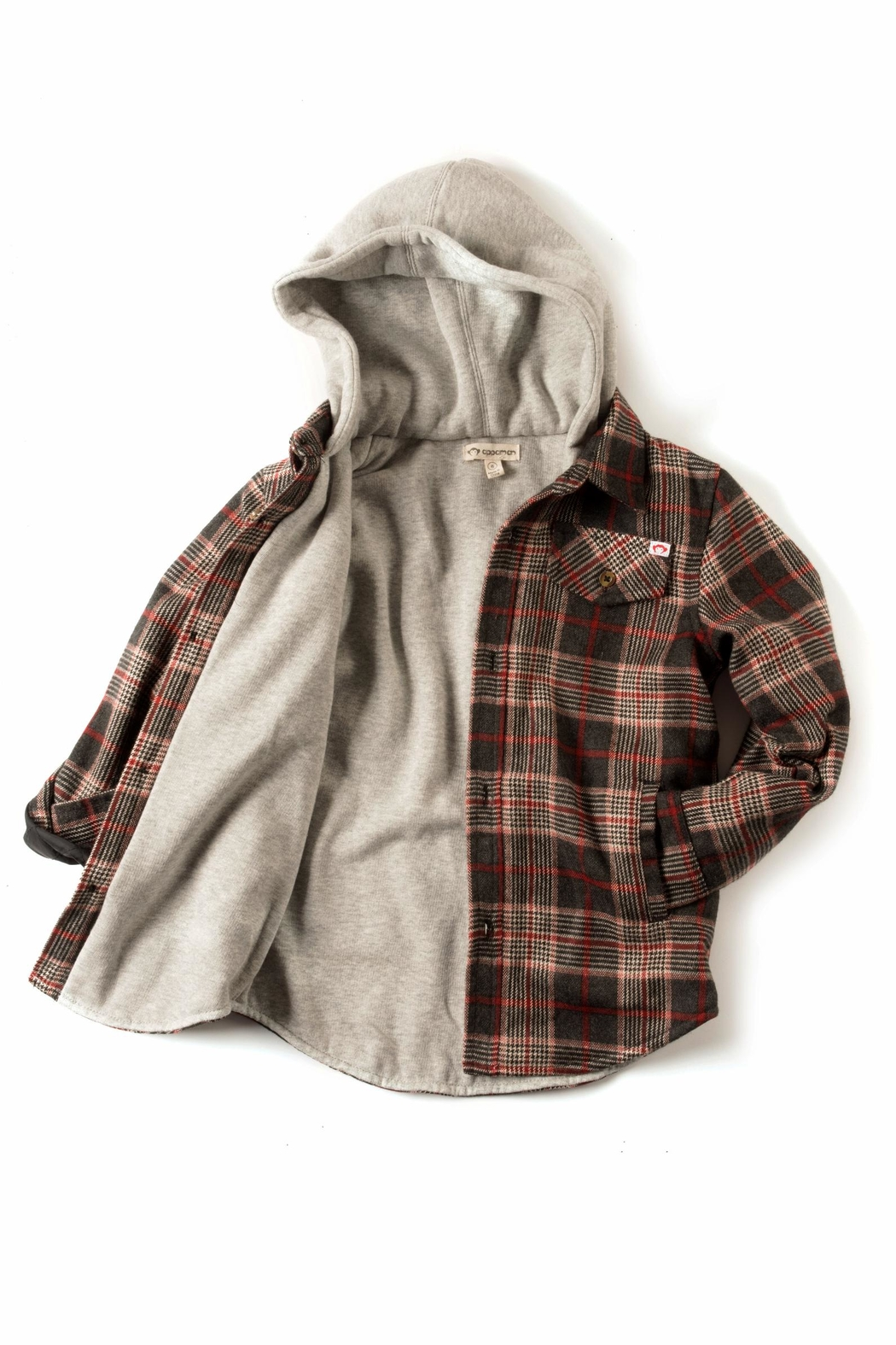 Appaman Plaid Hooded Jacket - Front Full Image