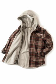 Appaman Plaid Hooded Jacket - Front full body