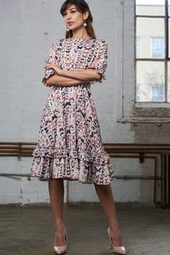 Apparalel Butterfly Ruffled Crepe Dress - Product List Image