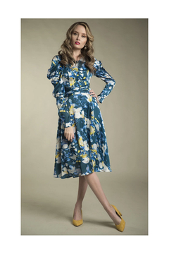 Apparalel Printed Charmeuse Dress - Product List Image