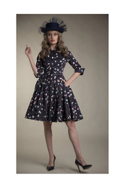 Apparalel Printed Faille Party Dress - Front full body