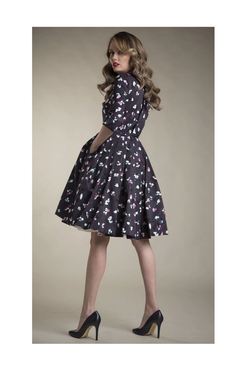Apparalel Printed Faille Party Dress - Main Image
