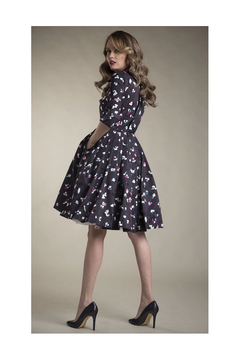 Apparalel Printed Faille Party Dress - Product List Image