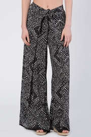 Apparel Love Black & White Print Pants - Product Mini Image