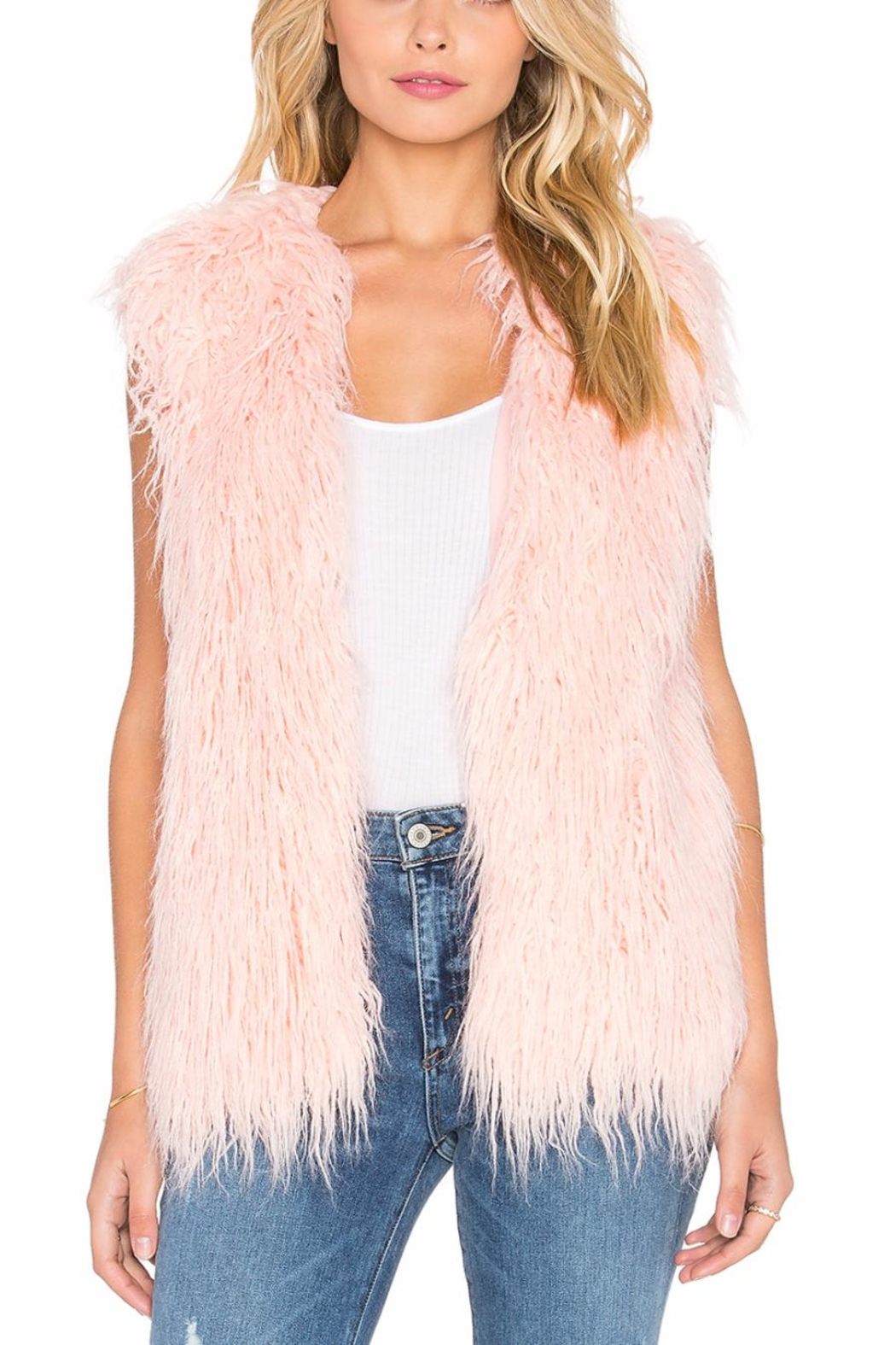 Apparel Love Cream Faux Vest - Main Image
