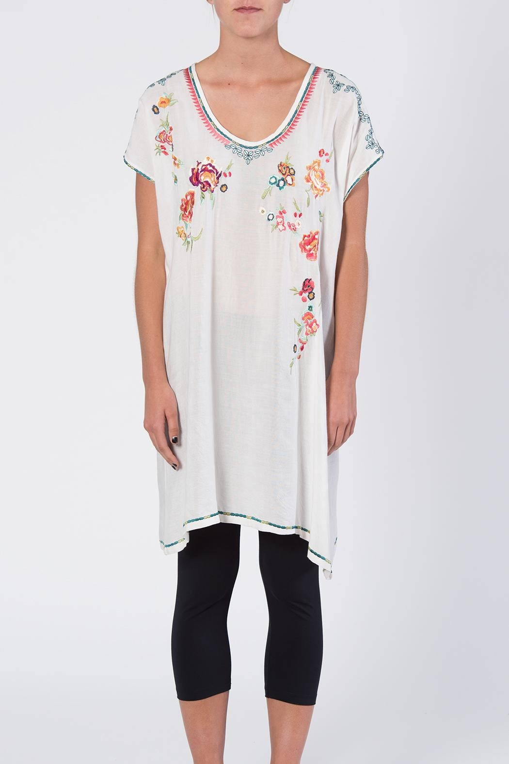 Apparel Love Multicolor Embroidered Tunic Top - Front Full Image