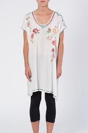 Apparel Love Multicolor Embroidered Tunic Top - Front full body