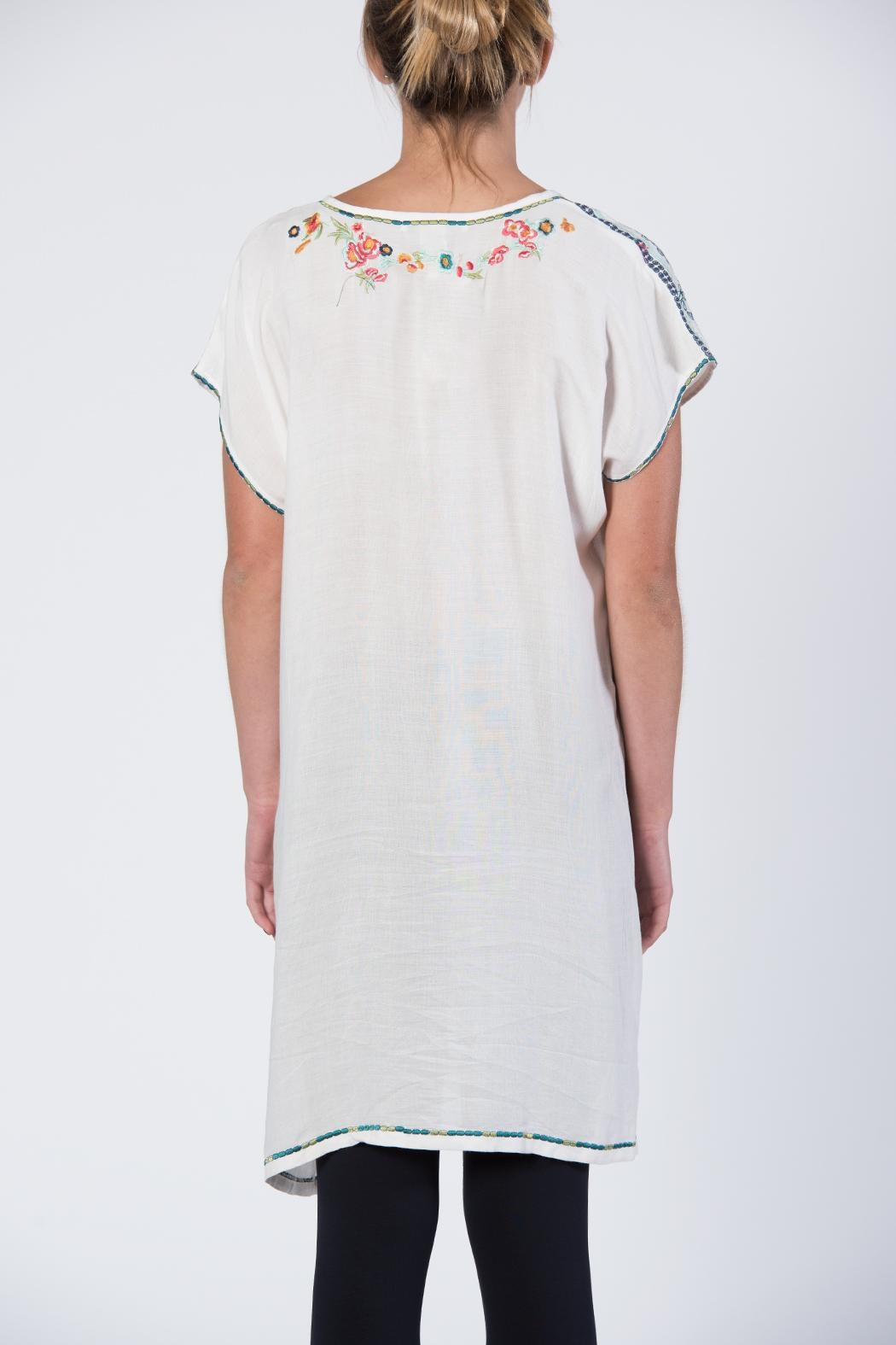 Apparel Love Multicolor Embroidered Tunic Top - Side Cropped Image
