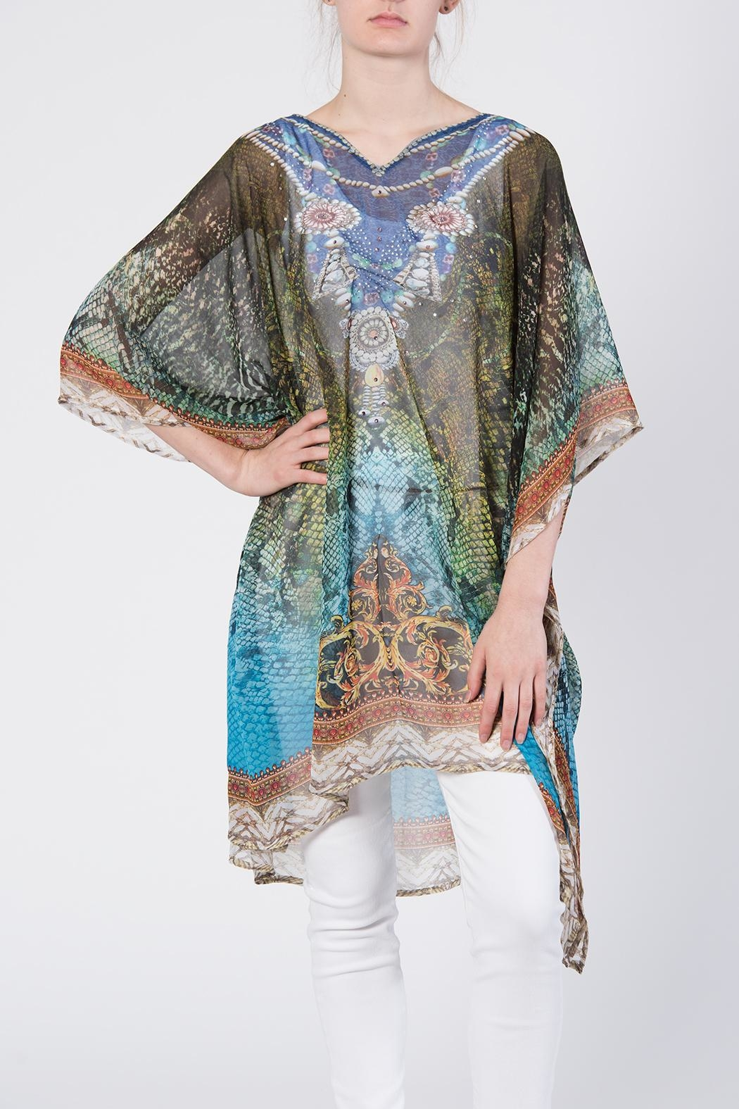 Apparel Love Scarf Poncho Top - Front Full Image