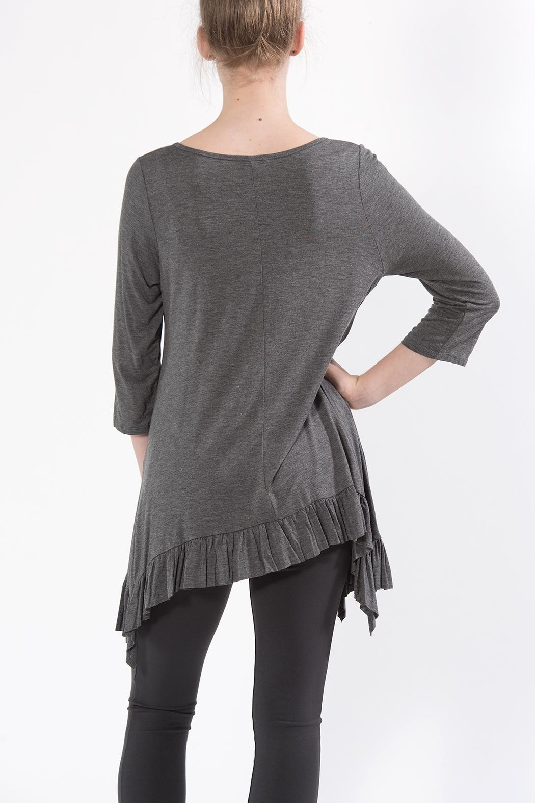 Apparel Love Shark Bite Tunic Grey - Front Full Image