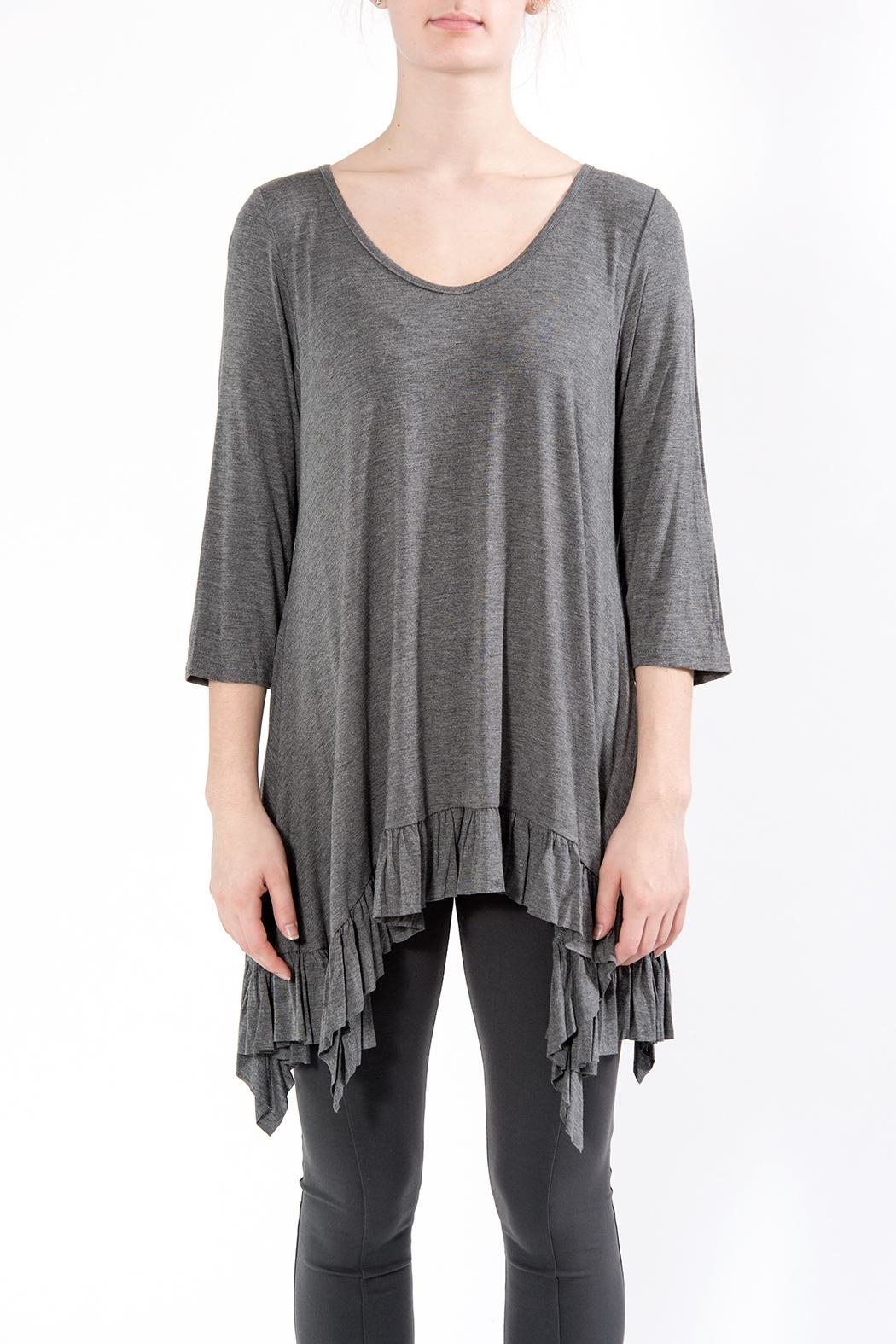 Apparel Love Shark Bite Tunic Grey - Front Cropped Image