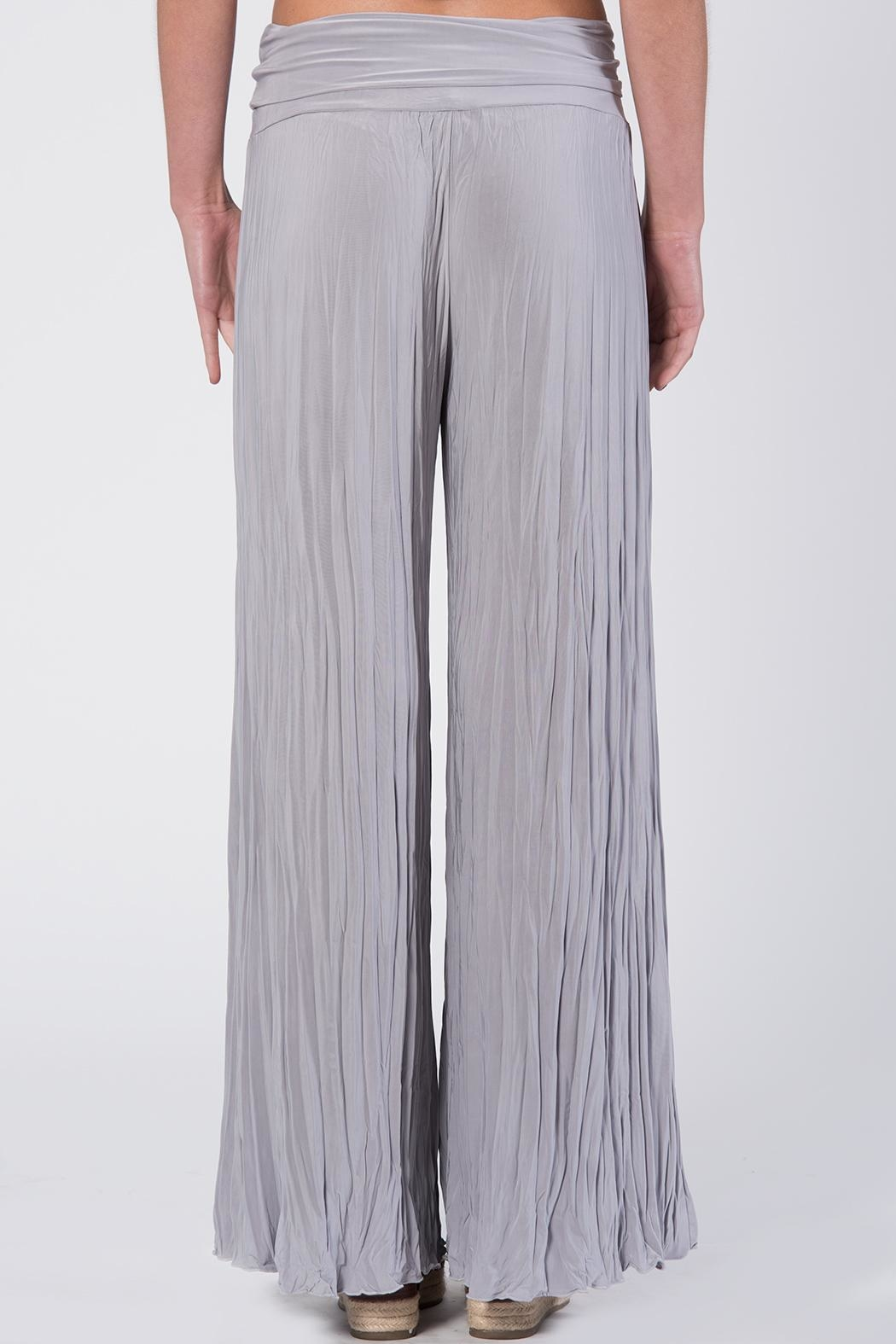 Apparel Love Silver Grey Crinkle Pants - Front Full Image
