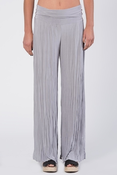 Apparel Love Silver Grey Crinkle Pants - Product List Image