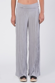 Apparel Love Silver Grey Crinkle Pants - Front cropped