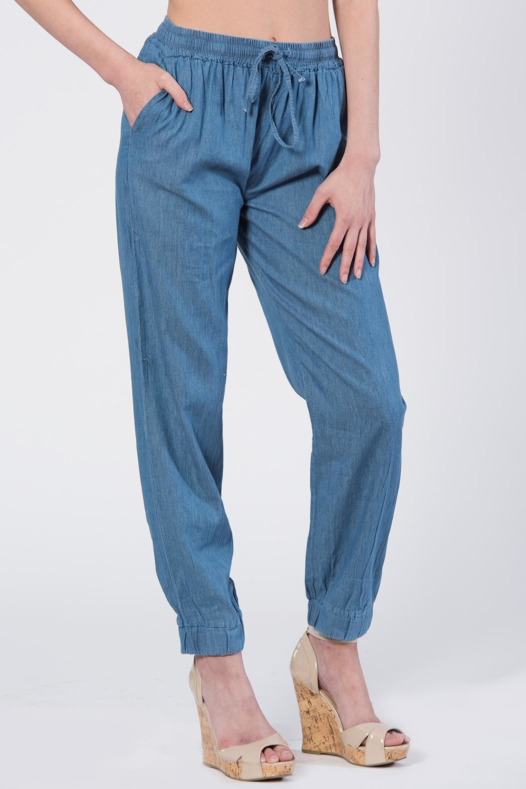 Apparel Love Soft Denim Joggers - Main Image