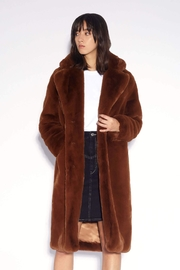 Apparis Laure Faux-Fur Coat - Front full body