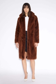 Apparis Laure Faux-Fur Coat - Front cropped