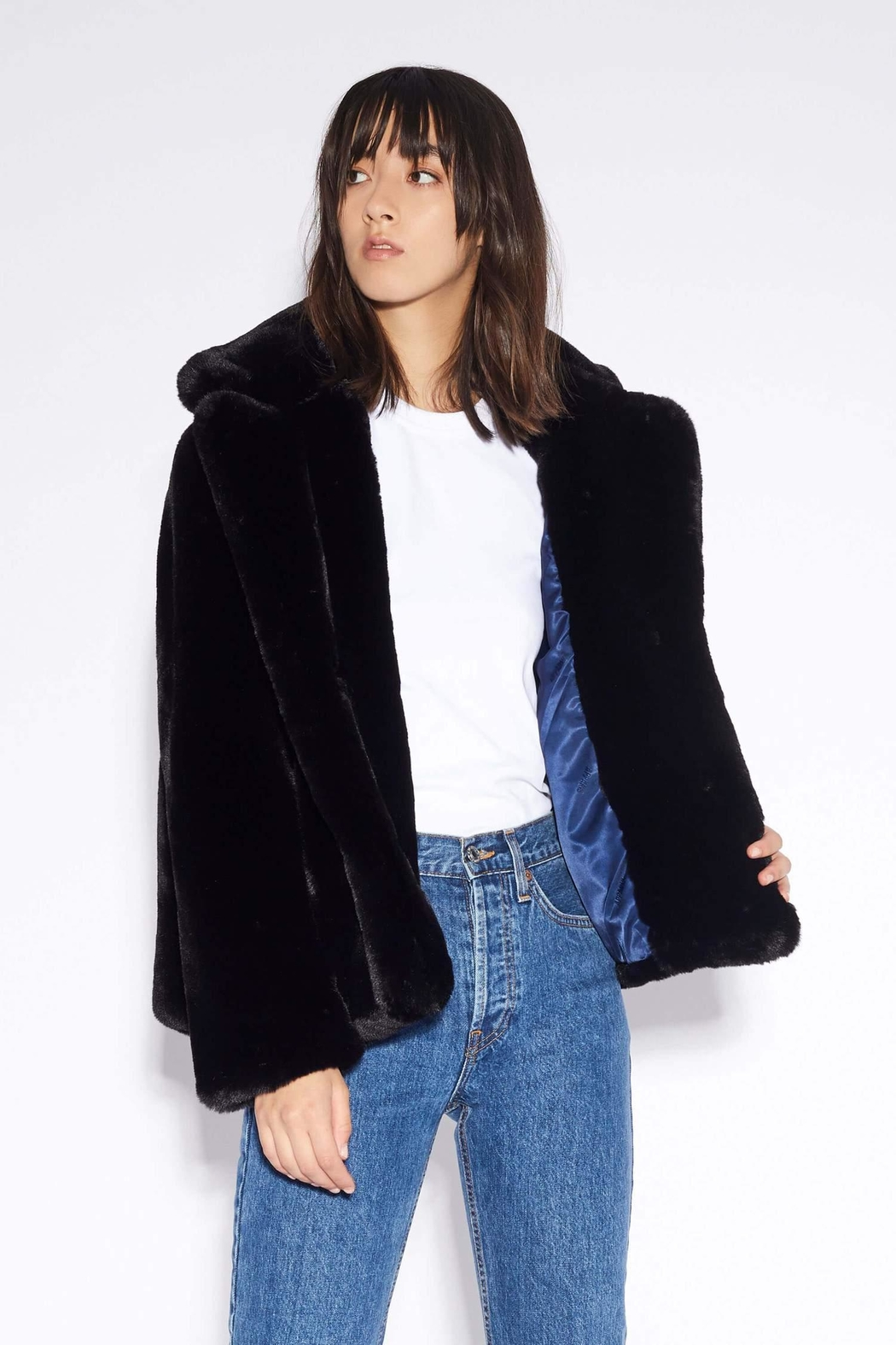 Apparis Manon Faux-Fur Jacket - Side Cropped Image
