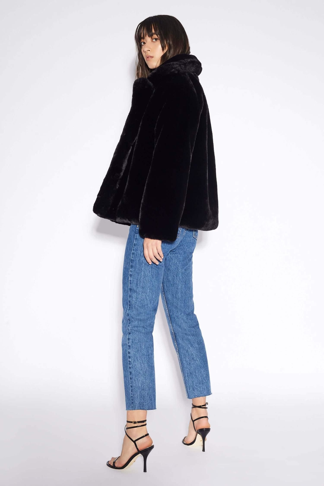 Apparis Manon Faux-Fur Jacket - Front Full Image