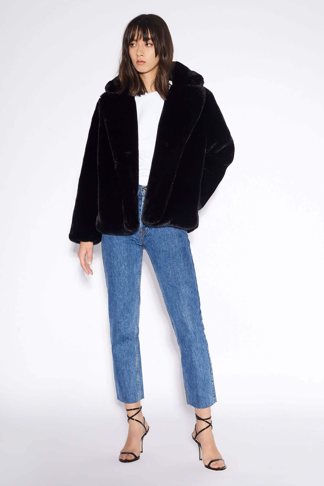 Apparis Manon Faux-Fur Jacket - Main Image