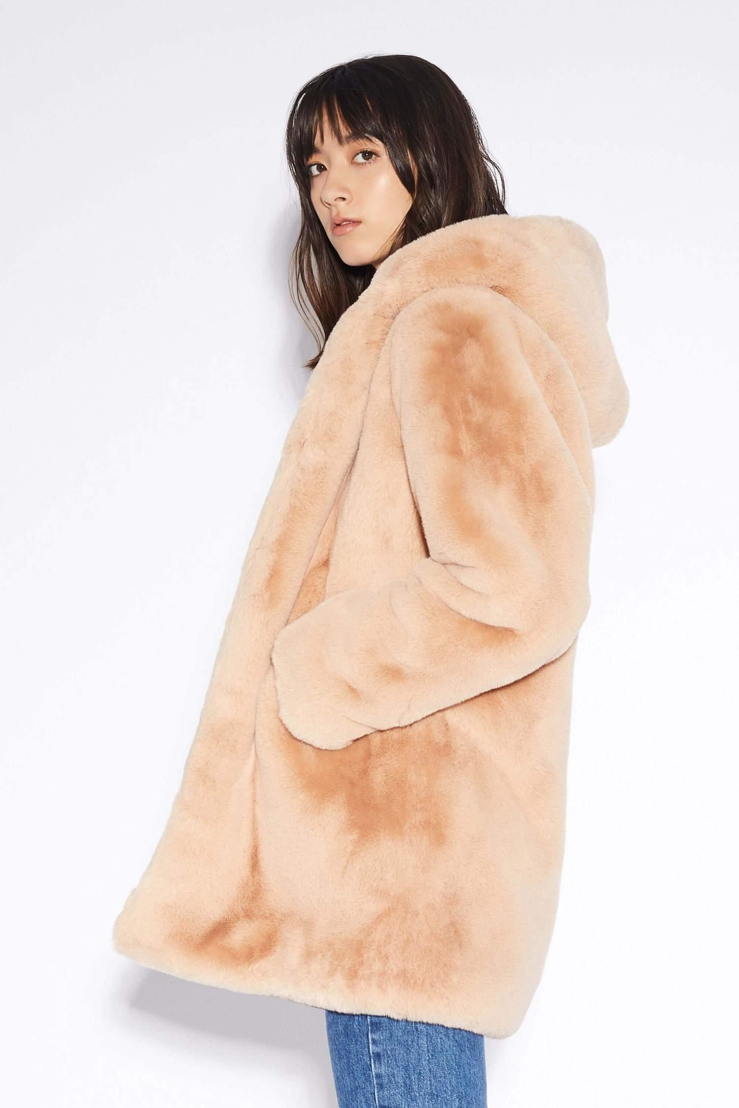 Apparis Marie Faux-Fur Coat - Front Full Image