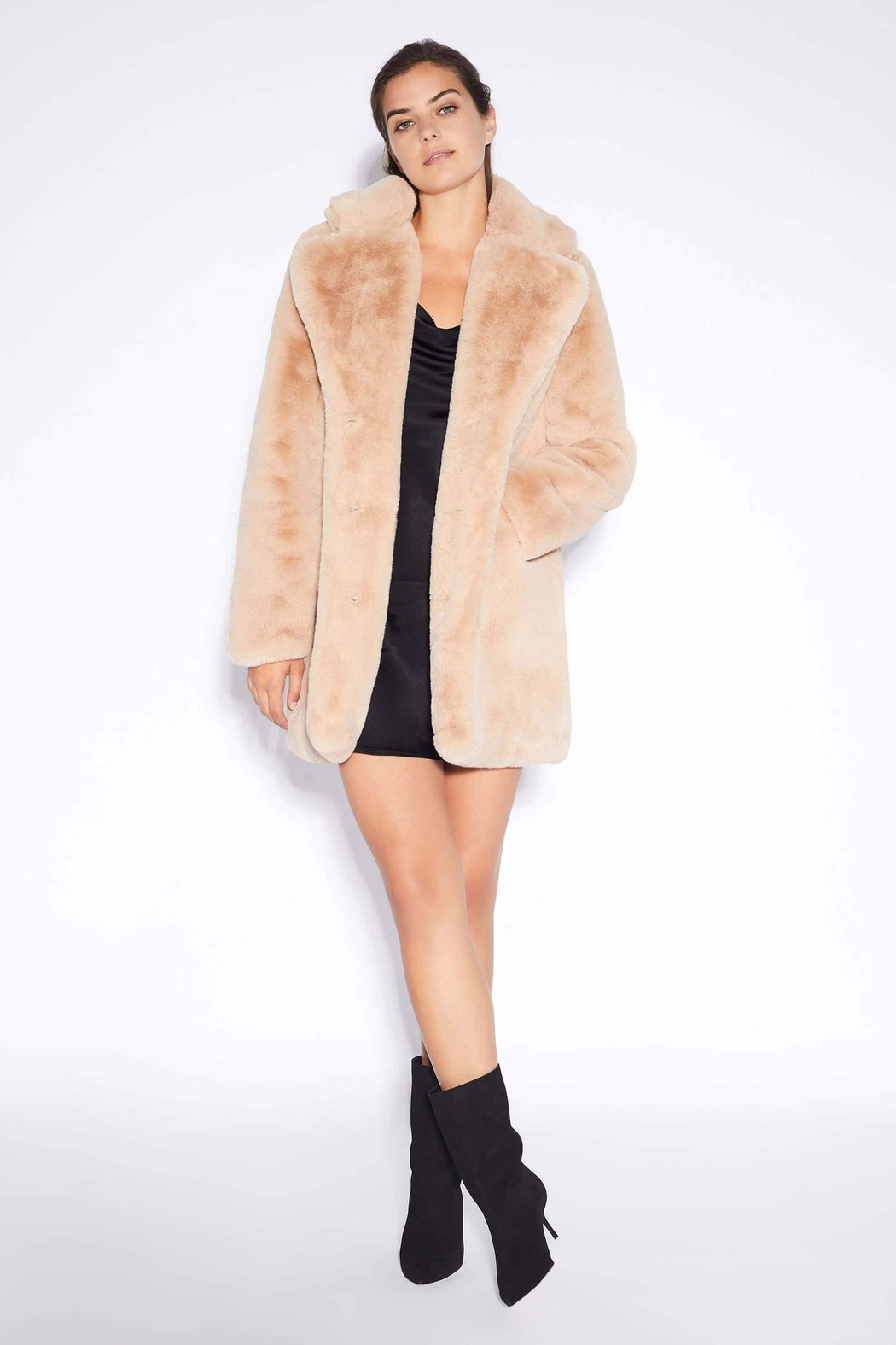 Apparis Sophie Faux-Fur Coat - Main Image