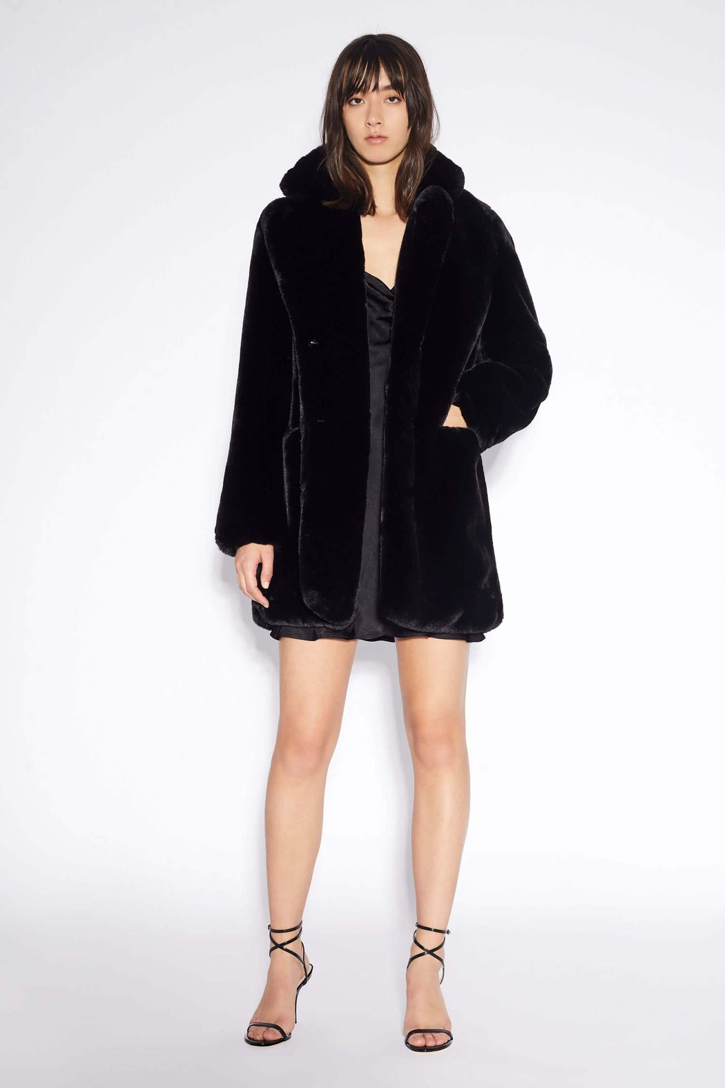 Apparis Sophie Faux-Fur Coat - Front Cropped Image