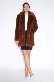 Apparis Sophie Faux-Fur Coat - Front cropped