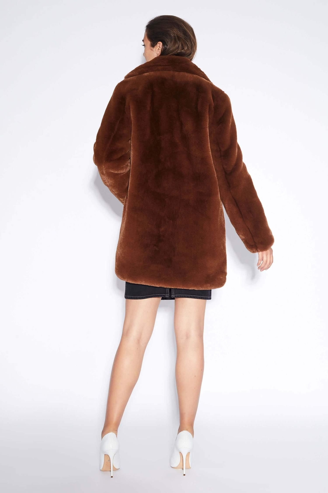 Apparis Sophie Faux-Fur Coat - Front Full Image