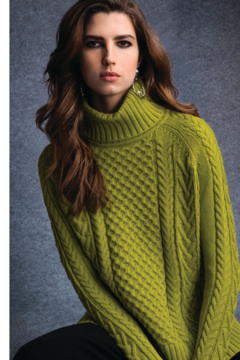 Alison Sheri  Apple Cable Knit Sweater - Alternate List Image