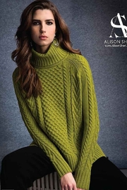 Alison Sheri  Apple Green Cable Knit Sweater - Product Mini Image