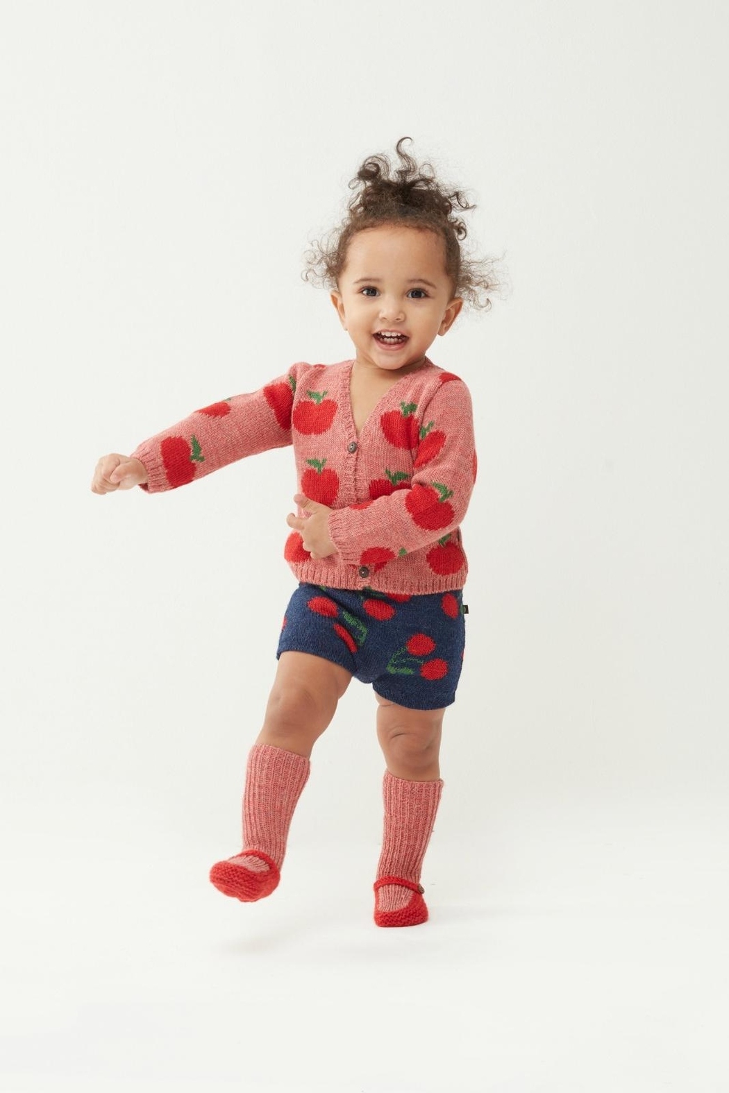 Oeuf Apple Kids' Cardigan - Front Full Image