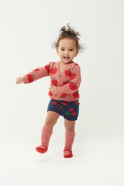 Oeuf Apple Kids' Cardigan - Front full body