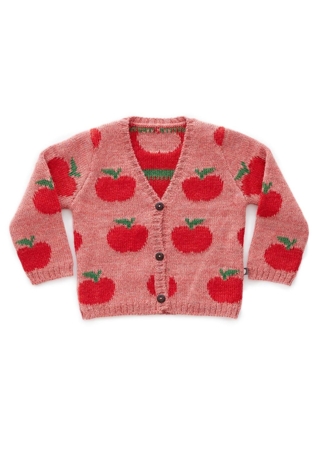 Oeuf Apple Kids' Cardigan - Front Cropped Image