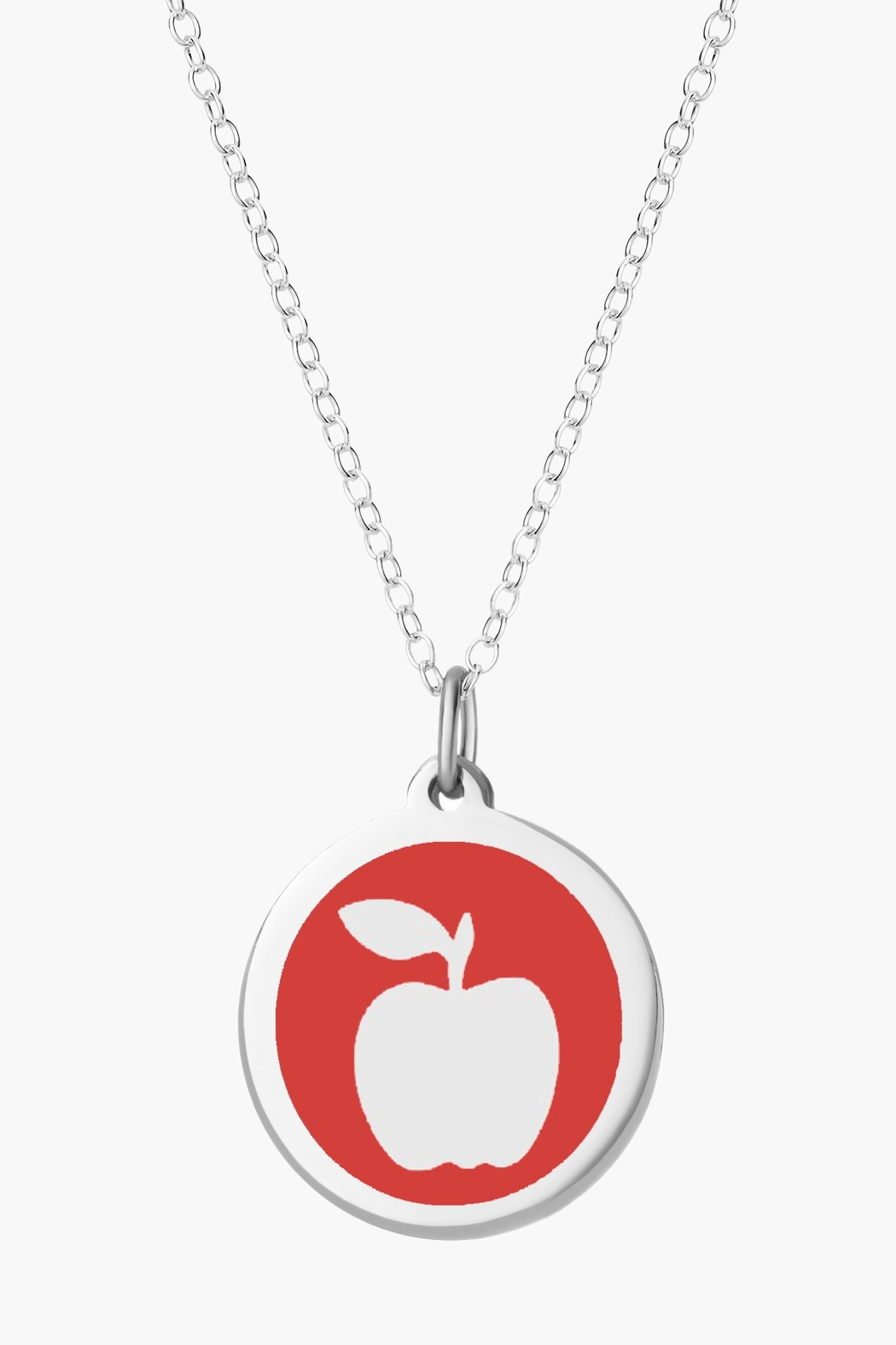 Auburn Jewelry Apple Silver Pendant - Mini - Front Cropped Image