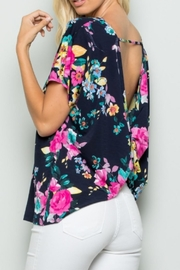 Apple B Navy Floral Top - Product Mini Image