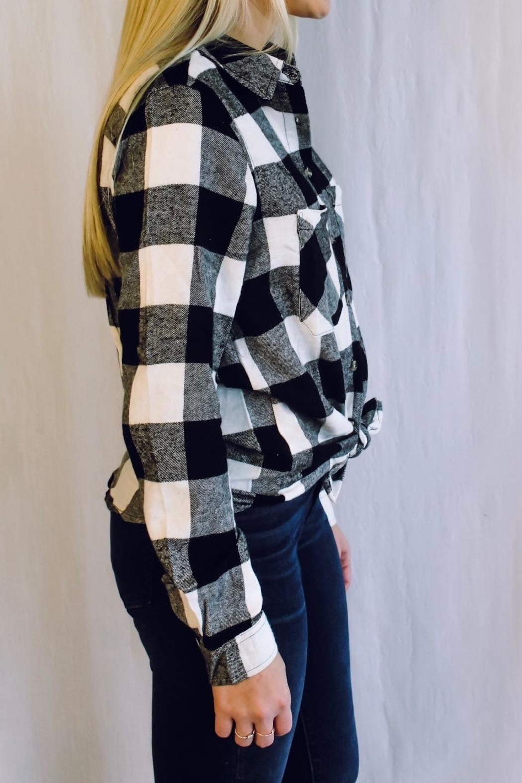 Apple B Plaid Button Down - Front Full Image