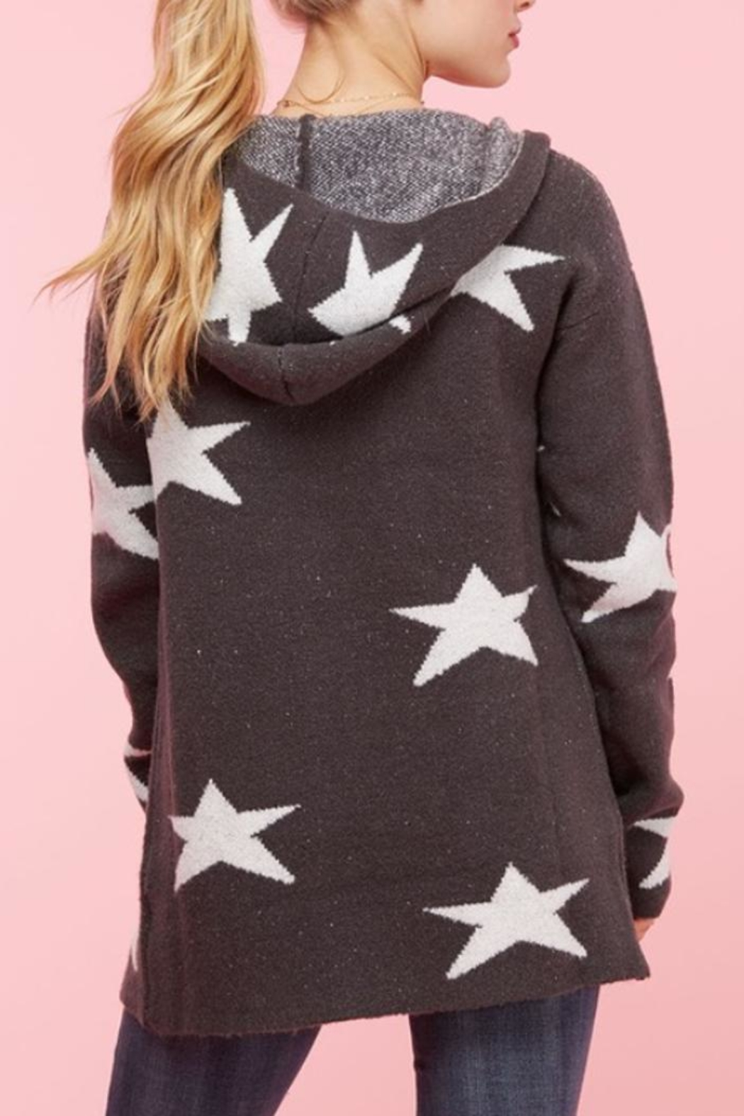 Apple B Star Sweater Jacket - Side Cropped Image