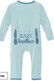 Kickee Pants Appliqué Coverall With Snaps - Front cropped