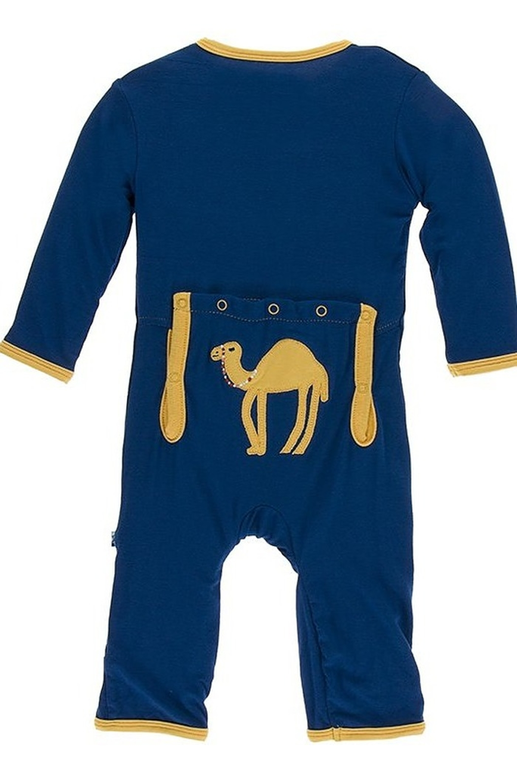 Kickee Pants Applique Coverall with Zipper - Front Cropped Image